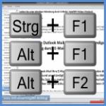 Tastenbefehle Steuerung und F1, Alt und F2 und Alt und F2