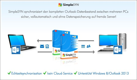 Outlook synchronisieren mit Simple-syn