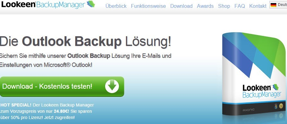Outlook-Backup mit LookenBackupManager